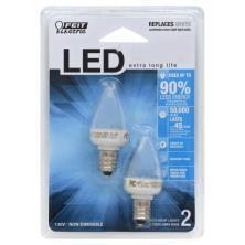Feit Electric Light Bulbs, Night Light, LED, Candelabra Base