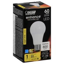 Feit Electric Light Bulb, LED, Dimmable A19, Warm White, 9 Watts