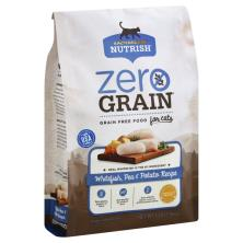 Rachael Ray Nutrish Zero Grain Food for Cats, Grain Free, Whitefish, Pea & Potato Recipe