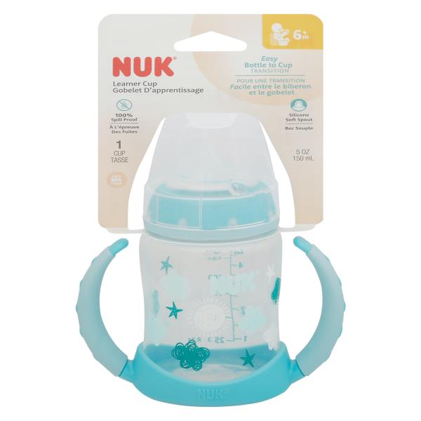 Nuk Learner Cup, Silicone, 5 oz, 6+M