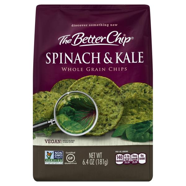 Better Chip Chips, Whole Grain, Spinach & Kale