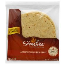 Stonefire Pizza Crusts, Artisan, Thin