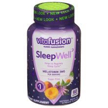 VitaFusion SleepWell, Melatonin 3 mg, Sugar Free, Gummy