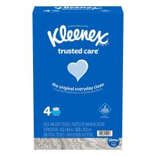 Kleenex Facial Tissue, Trusted Care, 4 Bundle Pack