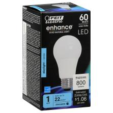 Feit Electric Enhance Light Bulb, LED, Replacement, Daylight, 60 Watts