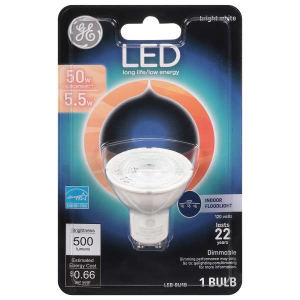 Ge Light Bulb Led Bright White 5 5 Watts Publix Com