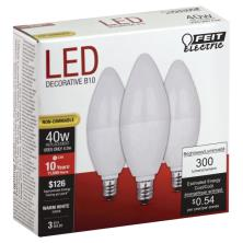 Feit Electric Light Bulbs, LED, Warm White, 4.5 Watts
