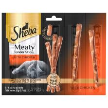 Sheba Cat Treats, Meaty Tender Sticks, with Chicken