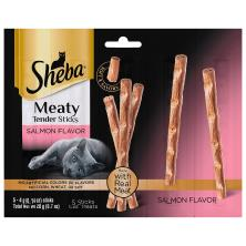 Sheba Cat Treats, Meaty Tender Sticks, Salmon Flavor