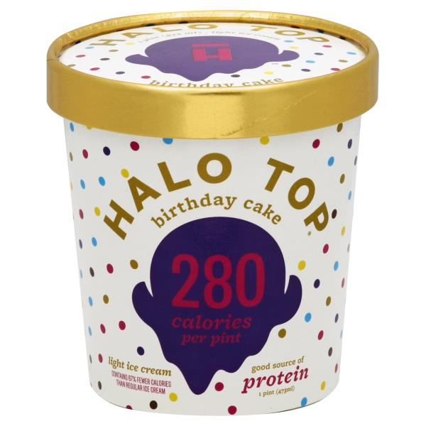 Halo Top Ice Cream Light Birthday Cake