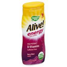 Alive Energy Water Enhancer, Berry Blast Flavored, Caffeine Free