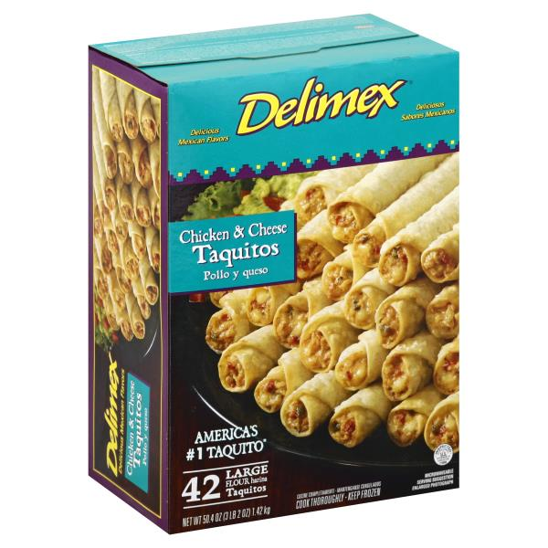 Delimex Taquitos, Flour, Chicken & Cheese, Large