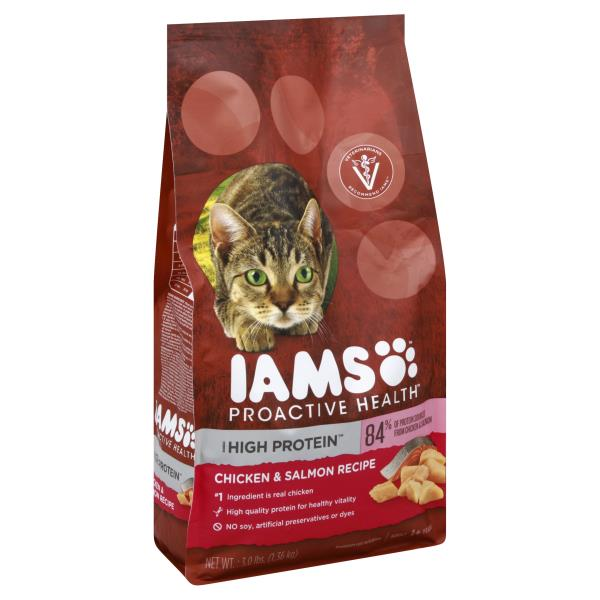 Iams Cat Food Chicken Salmon Recipe High Protein Proactive