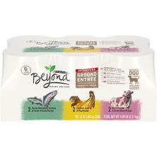 Beyond Dog Food, Natural, Grain Free, Ground Entree, Variety Pack