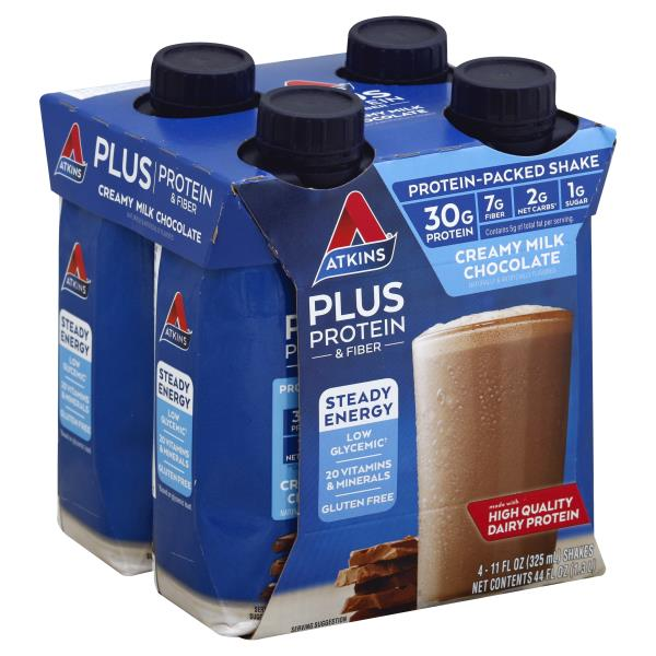 Protein Shaker Near Me: Atkins Plus Protein-Packed Shake, Creamy Milk Chocolate