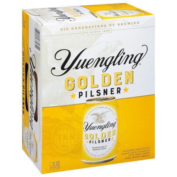 Yuengling Pilsner, Golden, 12 Pack : Publix com