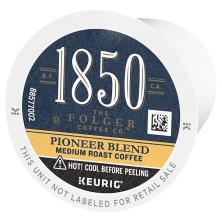 Folgers 1850 Coffee, Medium Roast, Pioneer Blend, K-Cup Pods