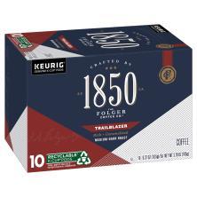 Folgers 1850 Coffee, Medium-Dark Roast, Trailblazer, K-Cup Pods