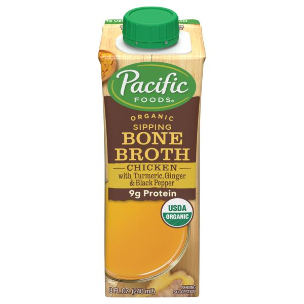 Pacific Foods Bone Broth Organic Chicken With Tumeric Ginger