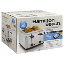 Hamilton Beach 4 Slice Toaster, Silver