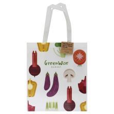 Publix GreenWise White Eggplant/Mushroom Laminate Bag