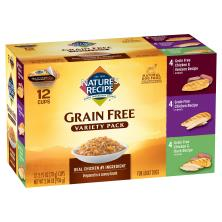 Natures Recipe Dog Food, For Adult Dogs, Grain Free, Variety Pack