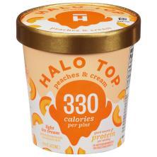 Halo Top Ice Cream Peaches Light
