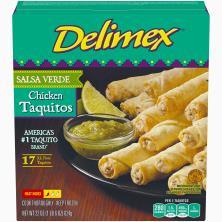 Delimex Taquitos, Flour, Chicken, Salsa Verde, XL